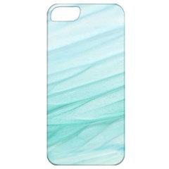Blue Texture Seawall Ink Wall Painting Apple Iphone 5 Classic Hardshell Case