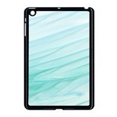 Blue Texture Seawall Ink Wall Painting Apple Ipad Mini Case (black)