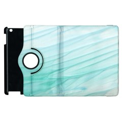 Blue Texture Seawall Ink Wall Painting Apple Ipad 2 Flip 360 Case