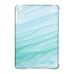 Blue Texture Seawall Ink Wall Painting Apple Ipad Mini Hardshell Case (compatible With Smart Cover)