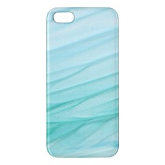 Blue Texture Seawall Ink Wall Painting Apple Iphone 5 Premium Hardshell Case