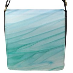 Blue Texture Seawall Ink Wall Painting Flap Messenger Bag (s)