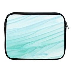 Blue Texture Seawall Ink Wall Painting Apple Ipad 2/3/4 Zipper Cases by Nexatart