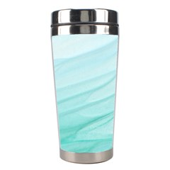 Blue Texture Seawall Ink Wall Painting Stainless Steel Travel Tumblers
