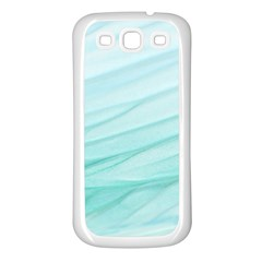 Blue Texture Seawall Ink Wall Painting Samsung Galaxy S3 Back Case (white)