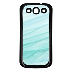 Blue Texture Seawall Ink Wall Painting Samsung Galaxy S3 Back Case (black)