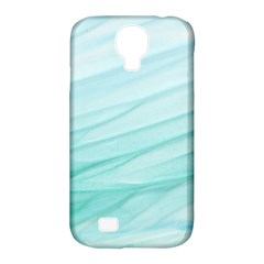 Blue Texture Seawall Ink Wall Painting Samsung Galaxy S4 Classic Hardshell Case (pc+silicone)