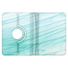 Blue Texture Seawall Ink Wall Painting Kindle Fire Hdx Flip 360 Case