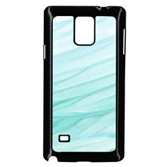 Blue Texture Seawall Ink Wall Painting Samsung Galaxy Note 4 Case (black)
