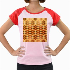 Ethnic Traditional Vintage Background Abstract Women s Cap Sleeve T Shirt