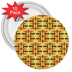 Ethnic Traditional Vintage Background Abstract 3  Buttons (10 Pack)