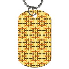 Ethnic Traditional Vintage Background Abstract Dog Tag (one Side)