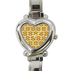 Ethnic Traditional Vintage Background Abstract Heart Italian Charm Watch