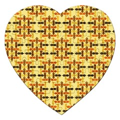 Ethnic Traditional Vintage Background Abstract Jigsaw Puzzle (heart) by Nexatart