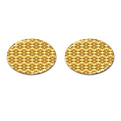 Ethnic Traditional Vintage Background Abstract Cufflinks (oval)