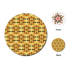Ethnic Traditional Vintage Background Abstract Playing Cards (round)