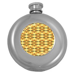 Ethnic Traditional Vintage Background Abstract Round Hip Flask (5 Oz)