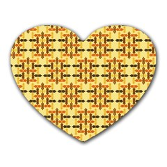 Ethnic Traditional Vintage Background Abstract Heart Mousepads