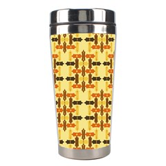 Ethnic Traditional Vintage Background Abstract Stainless Steel Travel Tumblers