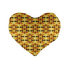 Ethnic Traditional Vintage Background Abstract Standard 16  Premium Flano Heart Shape Cushions