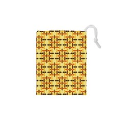 Ethnic Traditional Vintage Background Abstract Drawstring Pouches (xs)