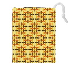 Ethnic Traditional Vintage Background Abstract Drawstring Pouches (xxl)