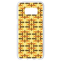 Ethnic Traditional Vintage Background Abstract Samsung Galaxy S8 White Seamless Case