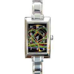 Ball Abstract Pattern Lines Rectangle Italian Charm Watch