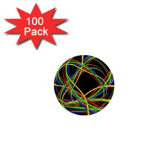 Ball Abstract Pattern Lines 1  Mini Magnets (100 Pack)