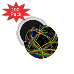 Ball Abstract Pattern Lines 1 75  Magnets (100 Pack)