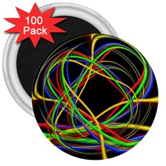 Ball Abstract Pattern Lines 3  Magnets (100 Pack)