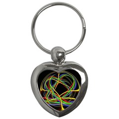 Ball Abstract Pattern Lines Key Chains (heart)