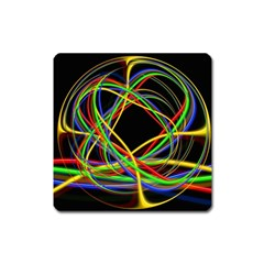 Ball Abstract Pattern Lines Square Magnet