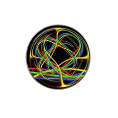 Ball Abstract Pattern Lines Hat Clip Ball Marker (4 Pack)
