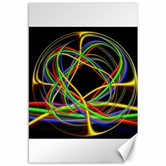 Ball Abstract Pattern Lines Canvas 12  X 18