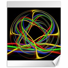 Ball Abstract Pattern Lines Canvas 16  X 20