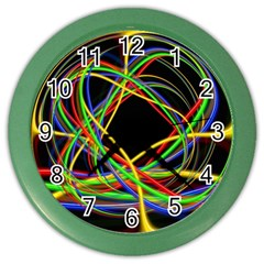 Ball Abstract Pattern Lines Color Wall Clocks