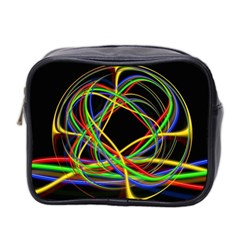 Ball Abstract Pattern Lines Mini Toiletries Bag 2 Side