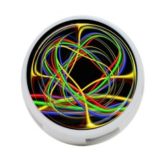 Ball Abstract Pattern Lines 4 Port Usb Hub (two Sides)