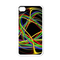 Ball Abstract Pattern Lines Apple Iphone 4 Case (white) by Nexatart