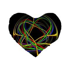 Ball Abstract Pattern Lines Standard 16  Premium Heart Shape Cushions