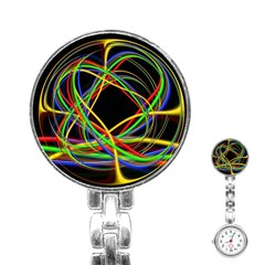 Ball Abstract Pattern Lines Stainless Steel Nurses Watch
