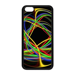 Ball Abstract Pattern Lines Apple Iphone 5c Seamless Case (black)