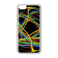 Ball Abstract Pattern Lines Apple Iphone 5c Seamless Case (white)
