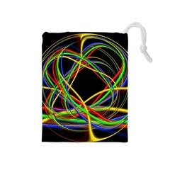 Ball Abstract Pattern Lines Drawstring Pouches (medium)
