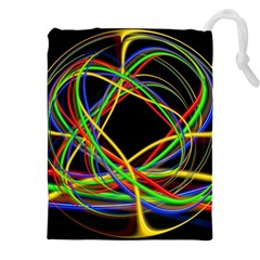 Ball Abstract Pattern Lines Drawstring Pouches (xxl)