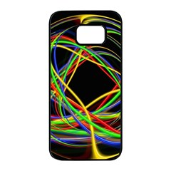 Ball Abstract Pattern Lines Samsung Galaxy S7 Edge Black Seamless Case