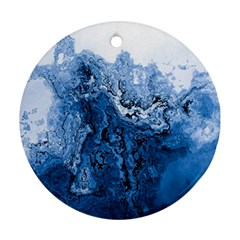 Water Nature Background Abstract Ornament (round)