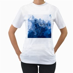 Water Nature Background Abstract Women s T Shirt (white) (two Sided)