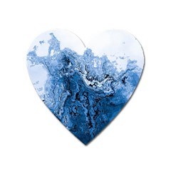 Water Nature Background Abstract Heart Magnet